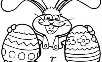 easter bunny to color easter bunny for kids free coloring pages on masivy world picture2